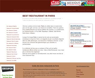 Guide restaurants Paris : Best Restaurant Paris